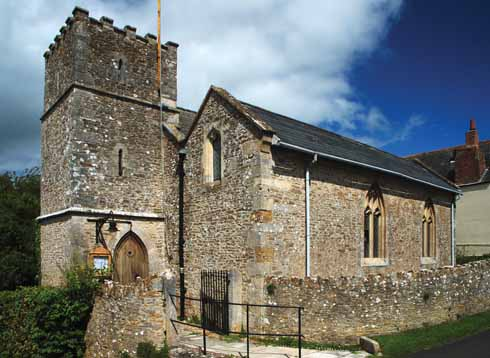 The 13th-century church that houses the roll of honour