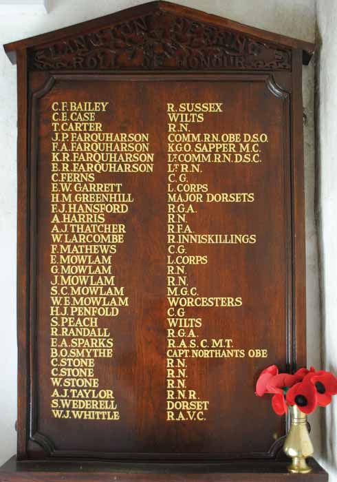 Langton Herring has a village roll of honour, rather than a memorial list of the fallen