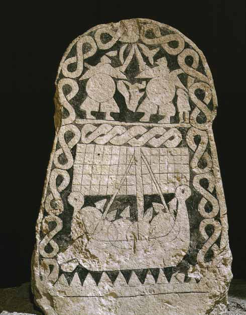 Viking Smiss picture stone from Gotland, 9th century AD