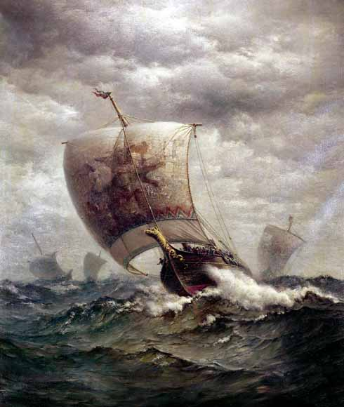 The Vikings' ships were both seaworthy and shallow drafted enough to use rivers