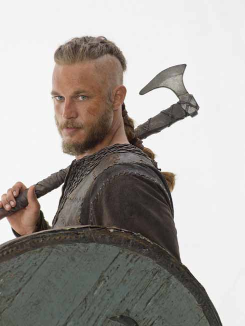 Travis Fimmel, playing the legendary Viking raider Ragnar Lodbrook