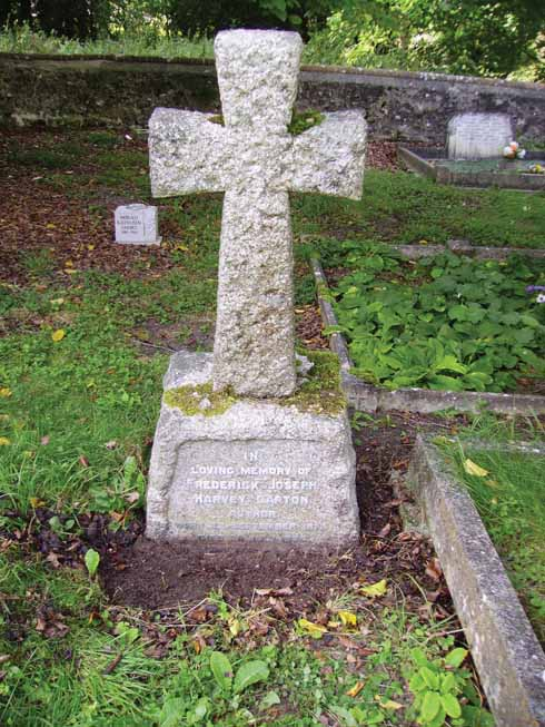 ❱ The gravestone of Frederick Harvey Darton in Cerne Abbas burial ground