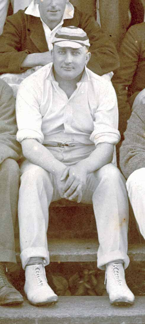 ❱ One of the very few known photographs of Frederick Harvey Darton.  It was taken at a cricket match at his old school, Sutton Valence.