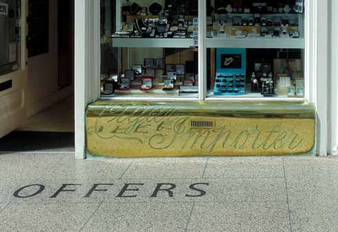 Edward Offer & Co Cigar Importers were in the (Gervis) arcade from 1871 to 1979, the inlaid floor and brass window base remain, although the shop is now a jeweller's