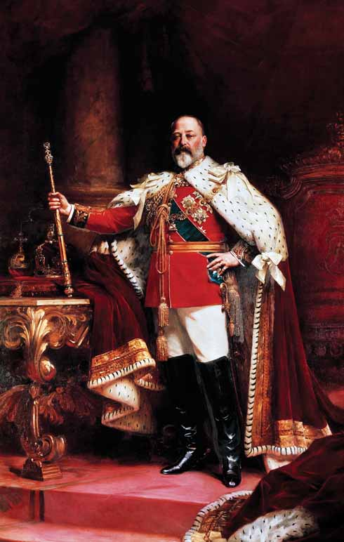 King Edward VII shown in his imperial pomp. A scene which might not have been captured were it not for the intervention of Sir Frederick Treves.