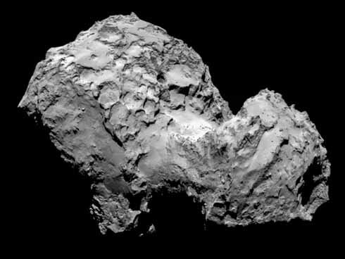 The rubber-duck shaped Comet 67P Churyumov-Gerasimenko (pictured by the Rosetta orbiter) on which the Philae lander successfully touched down on 12 November