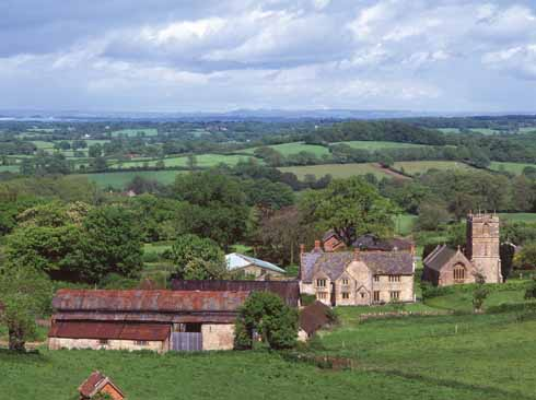 The village of Melbury Bubb, with its manor house and St Mary's Church, was probably Hardy's inspiration for 'Great Hintock'