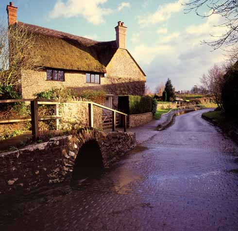 The ford at Melbury Osmond, the village on which Hardy based 'King's Hintock'