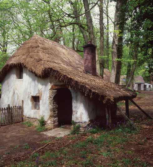 This replica of Giles Winterborne's 'One-Chimney Hut by Delborough' was created at Breamore Woods in Hampshire for a film version of the novel