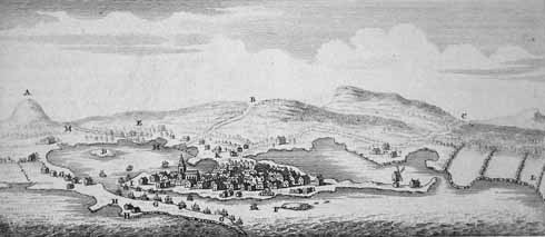 "This ""Prospect of Poole…"" from John Hutchins 1774, ""History and Antiquities of the County of Dorset"" shows a windmill at Baiter"