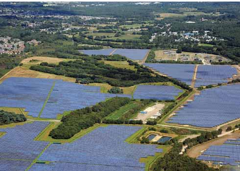 The massive Solar Farm at Hurn near Bournemouth Airport