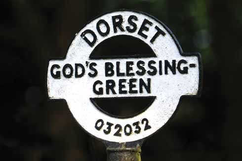This finial at Gods' Blessing Green can be seen on the road between Holt and Broom Hill