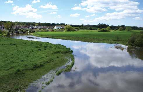The River Stour forms the barrier between Wimborne and Poole at Canford