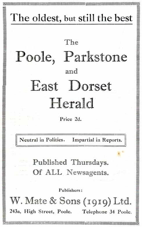 Even in the 1920s, the local press was proclaiming its virtues of neutrality and impartiality