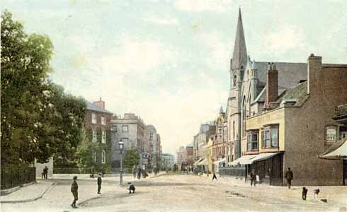 This 1904 image shows a leafy and salubrious-looking Poole High Street
