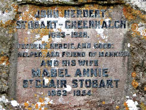 Mabel and her husband John rest together at Studland church (author)