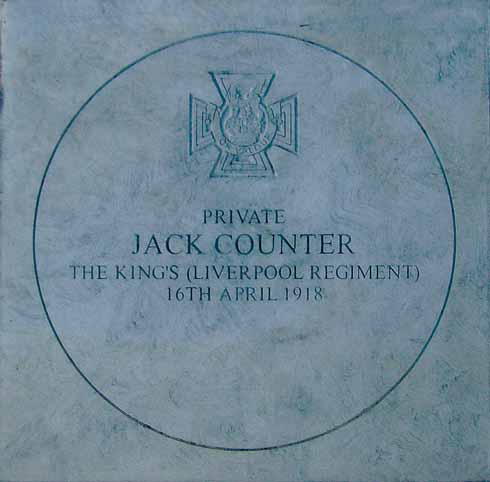 The commemorative paving stone in Blandford