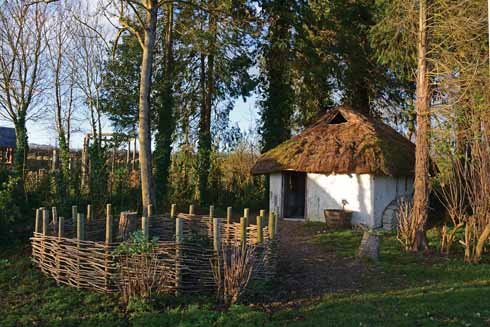 Not every village can boast its own (albeit reproduction) Iron Age roundhouses within the parish