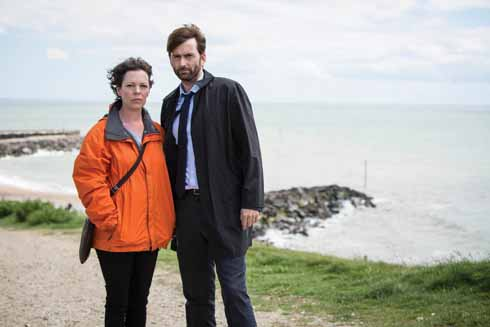 Effective if unlikely tourist ambassadors for West Dorset's many attractions, actors Olivia Colman and David Tennant are clearly delighted to be back in Dorset in this shot