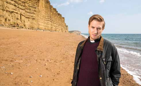 The sandy coloured cliffs at West Bay have been a near ubiquitous sight on television as the second series of Broadchurch was trailed from mid-December 2014