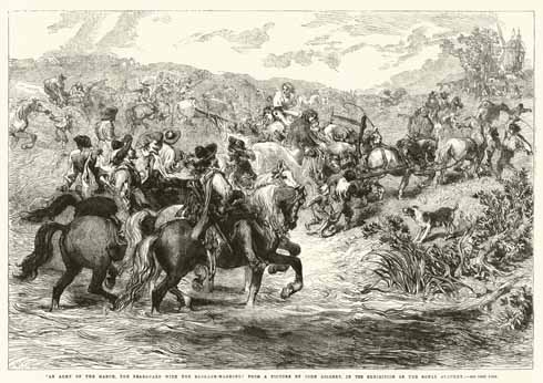 The rearguard of the Royalist forces with their baggage wagons departed on 15 June 1644 (image: Look and Learn)