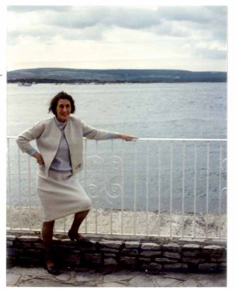 Mimi beside the water with the Purbecks behind (image: David Stark from Yeah Yeah Yeah: The Beatles & Bournemouth)