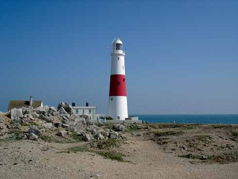 Portland Bill: one of the island's three lighthouses