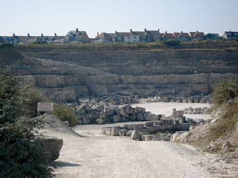 Quarrying has left its impact on Portland