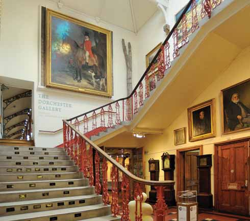 Main staircase leading to the Dorchester Gallery in the Victorian Hall