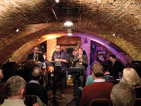 Gilad Atzmon with the band Sound of BlueNote performing in the intimate atmosphere of the cellar of the Blue Boar