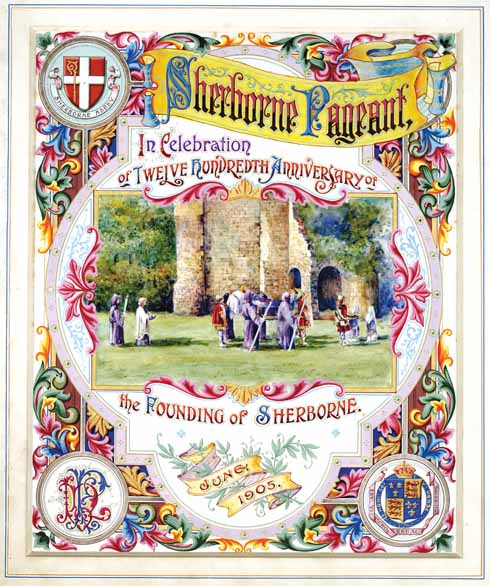 A memento of the 1905 pageant put together as a thank you gift for Napoleon Parker (Image courtesy of Sherborne School)