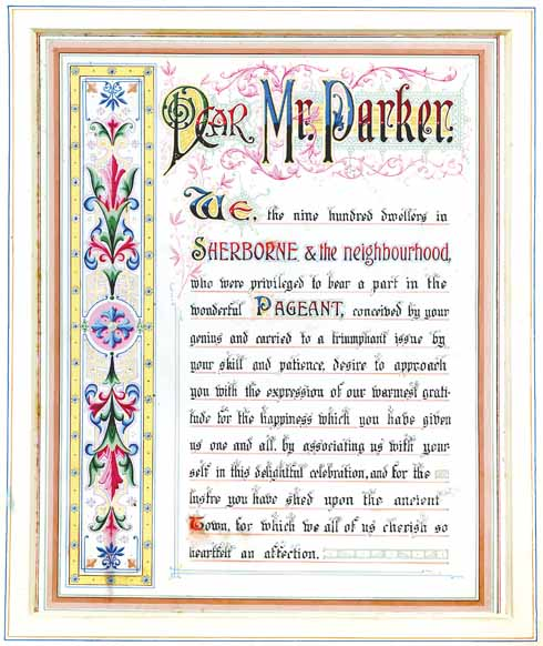❱ The town's illustrated thank you to Louis Napoleon Parker