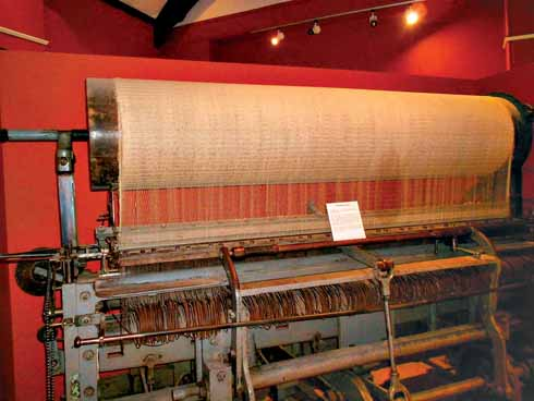 The museum celebrates Bridport's rope industry. This huge loom was used for making nets.