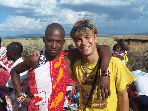 Making friends in Kenya