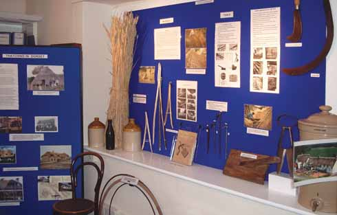 The thatching display features tools of the trade donated by a local thatcher (Picture credit: John Pridgeon)