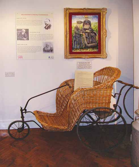 Stur's literary heritage is celebrated in the museum, which has restored Robert Young's Bath chair. The portrait behind it is by Paul Hart.