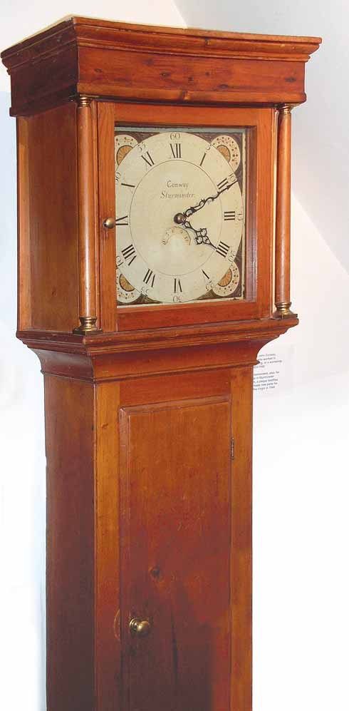 This long case clock has come home, as it was made by John Conway in the 19th century when he worked in the building which now houses the museum