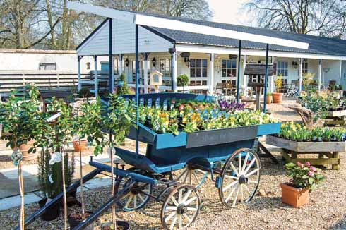 The recently relaunched garden centre has a refurbished café and gift shop, but retains its link with the Manor