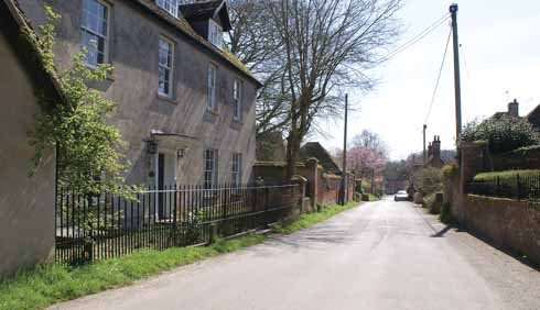 One of the peaceful side streets of Cranborne