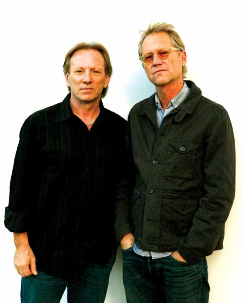 Dewey Bunnell and Gerry Beckley of America, who came up with the idea for 'A horse with no name' at Ilsington Farmhouse
