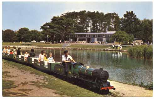 A 1960s shot of the Poole Park miniature railway, which has been in action since 1949 (image: www.flickr.com/photos/alwyn_ladell/)