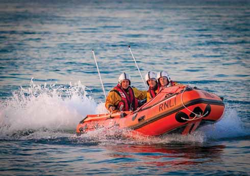 The D-class lifeboat Phyl & Jack for inshore water rescues