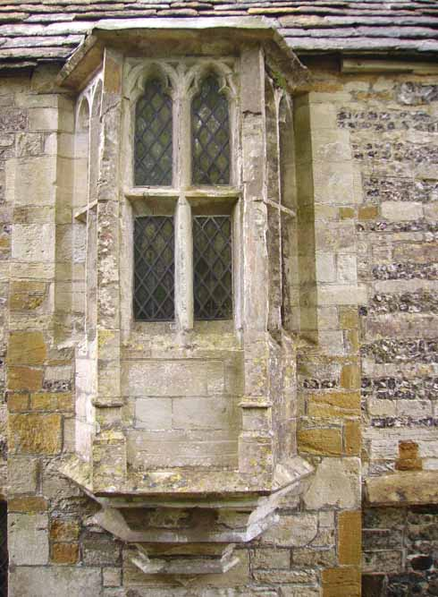 The oriel window of the 15th-century Guest House