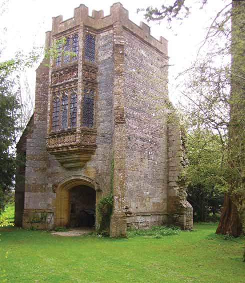 The Abbot's Porch was a three-storey entrance to the Abbot's Hall