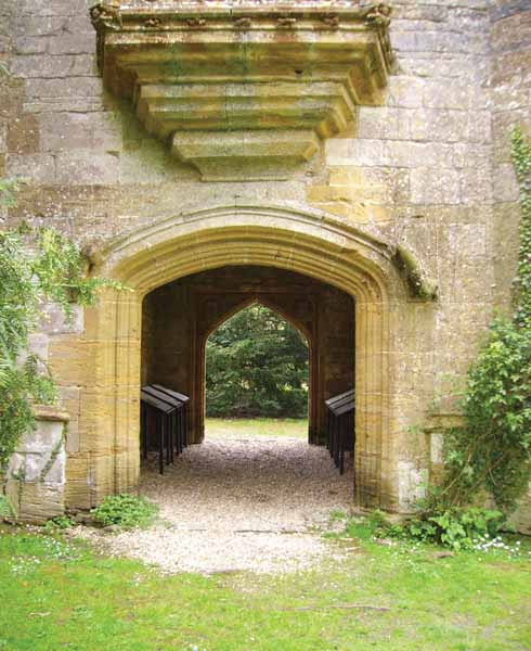 The entrance to the Abbot's Porch. Above it were the living quarters for the Abbot.