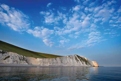 Bat's Head shot from around 100 yards off shore, to the west is White Nothe, to the east Durdle Door