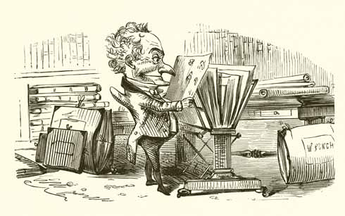 Mr Punch went from being a Neapolitan Commedia dell'arte character, to an agent of bribery in the 1774 Shaftesbury elections. The cartoon at the top of this page was entitled 'The Shaftesbury Election or The Humours of Punch' (image: www.lookandlearn.com)