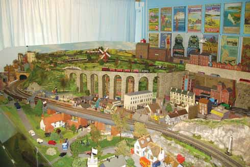 The model railway exhibition at the Model Town