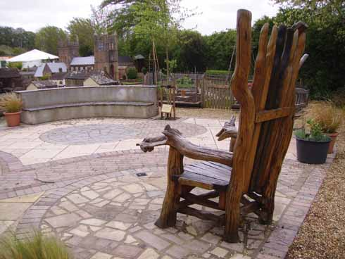 The recently completed sensory garden