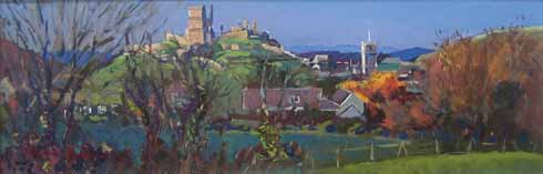 Richard Price's image of Corfe Castle shows the relationship between the village and the castle that dominates it